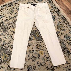 Ralph Lauren Sport White Straight Jeans. Size 10